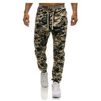 Spodnie dresowe joggery męskie moro-ciemnobeżowe Denley 0367