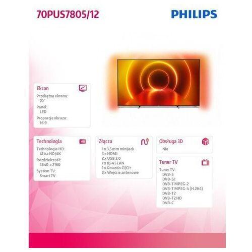 TV LED Philips 70PUS7805
