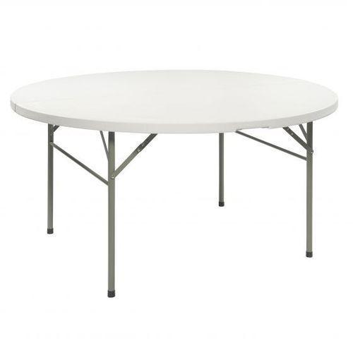 Stół koktajlowy bankietowy wysoki 154x74cm biały dobrebaseny (8719033103092)