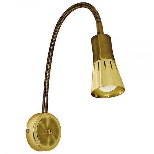 Regulowana LAMPA ścienna ARENA 91-84470 Candellux kinkiet OPRAWA do czytania na PESZLU złota (5906714812326)