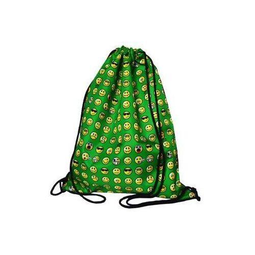 Mesio.pl Worek szkolny plecak wr 103 emoji zielony mesio -