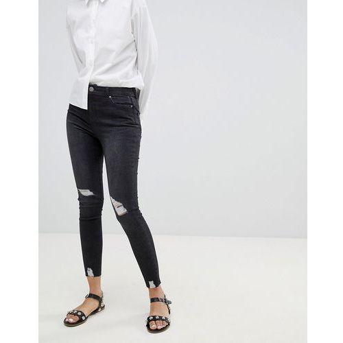 distressed detail lizzie skinny jeans - black, Miss selfridge