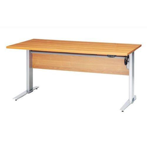 Tvilum Prima biurko z el. regulowanymi nogami 150 cm - jasna wiśnia \ szary