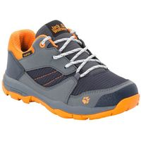 Jack wolfskin Buty trekkingowe dla dzieci mtn attack 3 xt texapore low k ebony / orange - 39