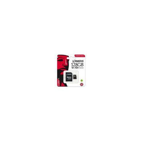 Karta pamięci canvas select microsdxc 128gb class 10 uhs-i u1 - 80mb/s + adapter sd marki Kingston