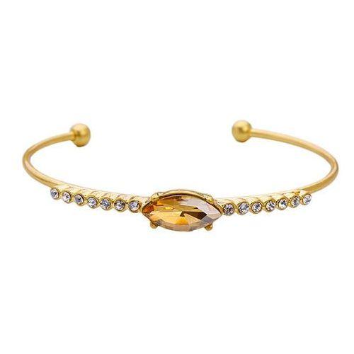 EXCLUSIVE Bransoletka z kryształem złota - bursztynowa, kolor pomarańczowy
