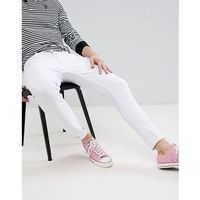 Pull&Bear Carrot Fit Jeans In White - White