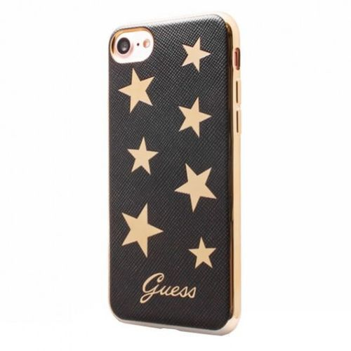 Guess Stars Soft Case - Etui iPhone 7 (czarny) - produkt z kategorii- Futerały i pokrowce do telefonów
