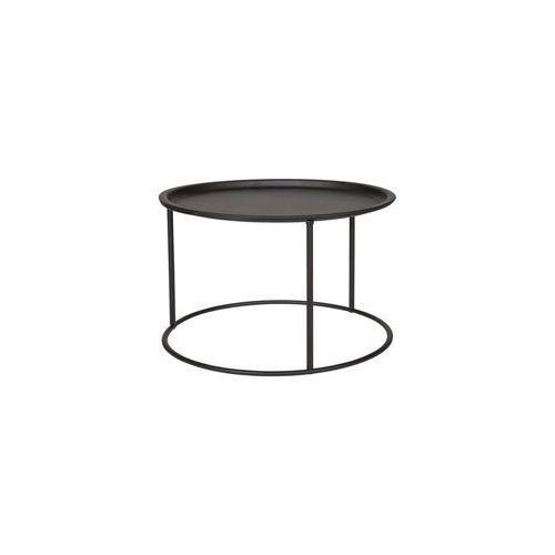 Stolik kawowy metalowy okrągły ivar - różne rozmiary i kolory - niski czarny marki Woood