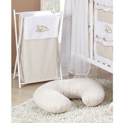 kosz na bieliznę śpiący miś brąz z białym marki Mamo-tato