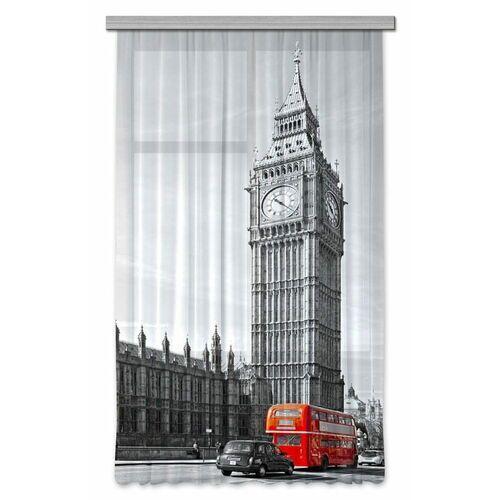 AG design Zasłona Czerwony autobus w Londynie 140 x 245 cm 1 szt
