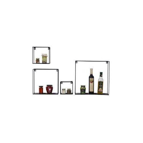 :: półka ścienna geometrix square - zestaw czterech marki Kare design