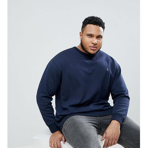 big & tall crew neck sweatshirt polo player logo in navy - navy marki Polo ralph lauren