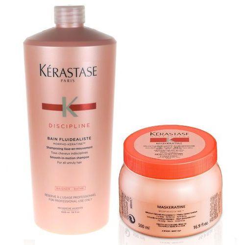 Kérastase Kerastase fluidealiste   zestaw dyscyplinujący włosy: szampon 1000ml + maska 500ml (9753197531513)