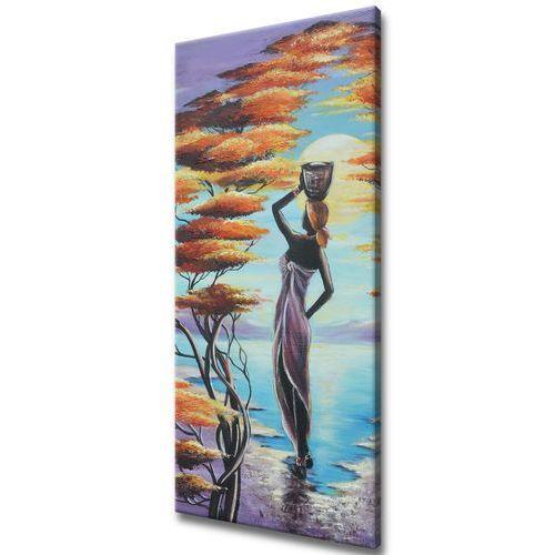 Obraz na Ścianę Afrykańska dziewczyna z koszem dz