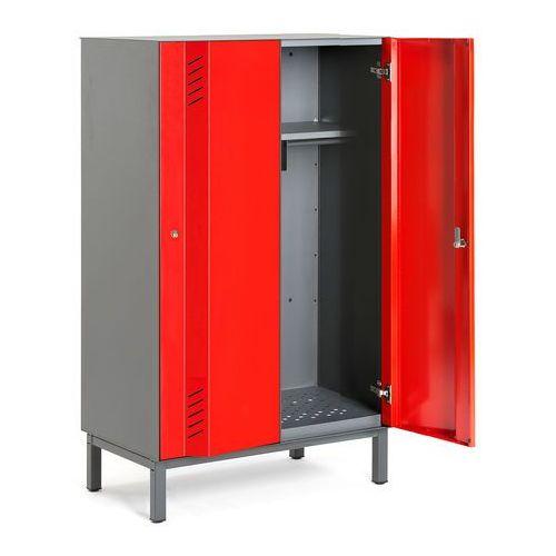 Szafa ubraniowa create energy, na nóżkach, 2 moduły, 1985x800x500 mm, czerwony marki Aj produkty