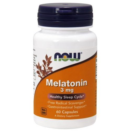 Melatonina 3mg 60kaps Nowfoods