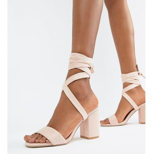 tie leg block heeled sandals - beige marki Park lane