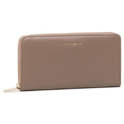 Duży portfel damski - fw5 metallic soft e2 fw5 11 04 01 taupe n75 marki Coccinelle