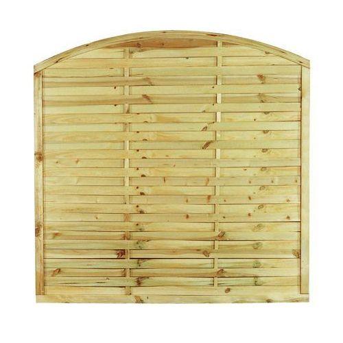 Stelmet Płot lamelowy z łukiem 180x180 cm drewniany