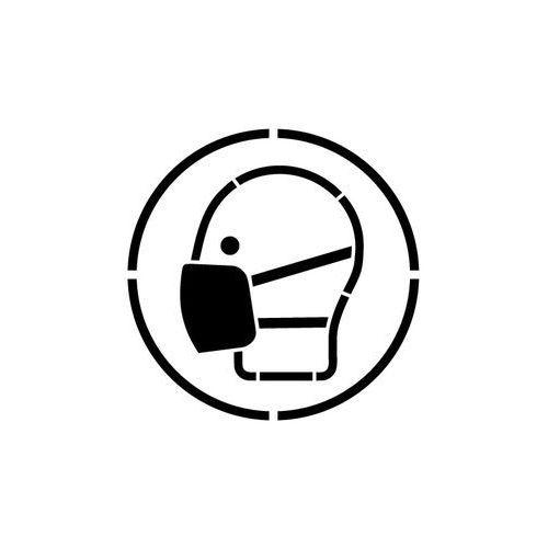 Szablon do malowania Znak Nakaz stosowania maski przeciwpyłowej GO016- 15x15 cm