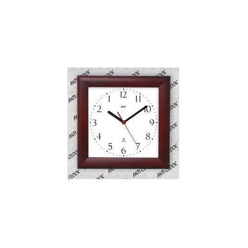 Anty-zegar drewniany kwadrat #2