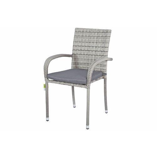 Meble ogrodowe technorattan malaga stół i 6 krzeseł - szare - szary marki Edomator.pl