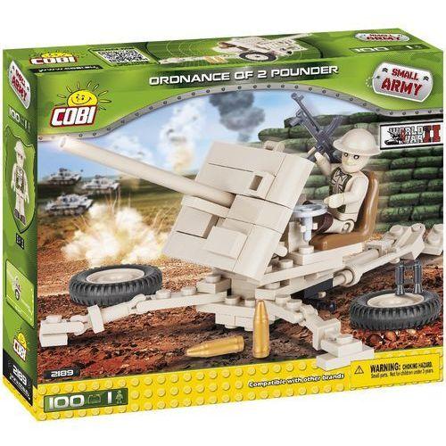 Armia 100 ELEMENTÓW Ordnance QF 2 Pounder - brytyjska armata przeciwpancerna - Cobi Klocki