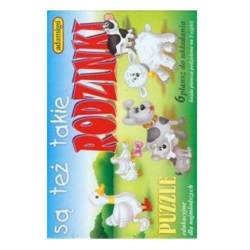 , puzzle edukacyjne są też takie rodzinki marki Adamigo