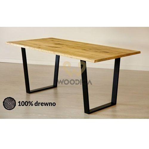 Stół dębowy na metalowych nogach 15 120x75x80