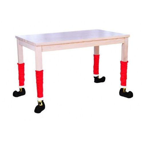 Pokrowiec na nogi krzesła lub stołu na święta Bożego Narodzenia - 4 szt.