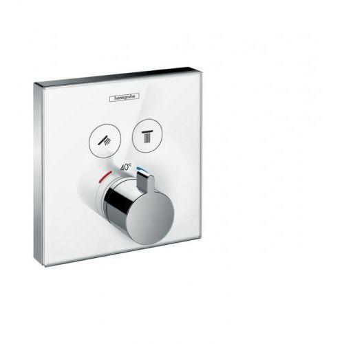 Hansgrohe ShowerSelect Glass bateria termostatyczna do 2 odbiorników, biały/chrom 15738400