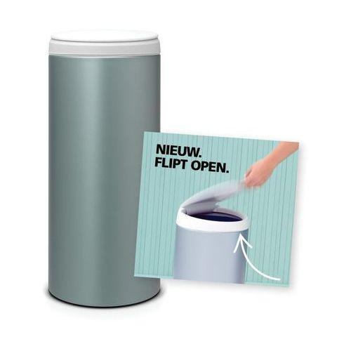Brabantia - kosz 'flip bin' - wiaderko plastikowe - 30 l - metaliczny miętowy