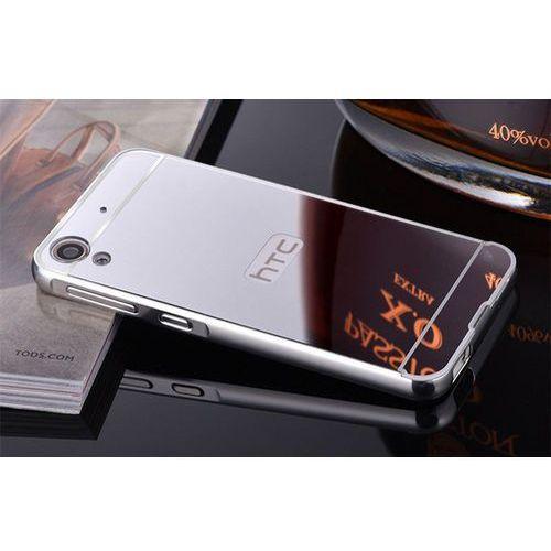 metal case srebrny | etui dla htc desire 626 - srebrny od producenta Mirror bumper