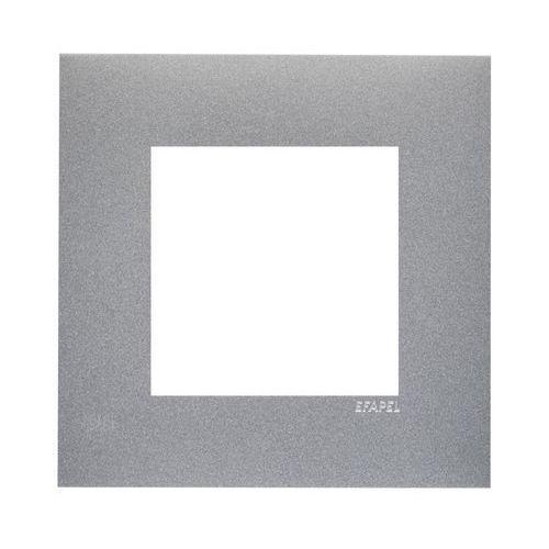 Ramka pojedyncza QUADRO Aluminium EFAPEL, kolor srebrny