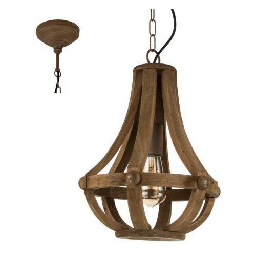 Eglo 49724 - Lampa wisząca KINROSS 1xE27/60W, kolor brązowy,
