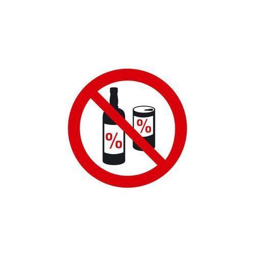 Znak informacyjny ZAKAZ SPOŻYWANIA ALKOHOLU 15 x 15 cm