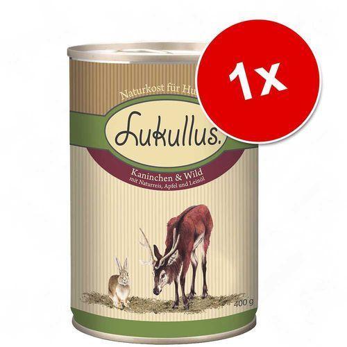 Lukullus natural, 1 x 400 g - królik i dziczyzna (4260077048107)