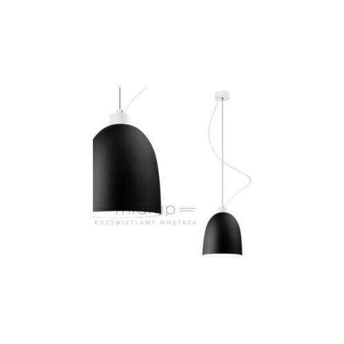 LAMPA wisząca AWA 1/S/BLACK MATTE/OPAL Sotto Luce szklana OPRAWA zwis czarny matowy, AWA 1/S/BLACK MATTE/OPAL
