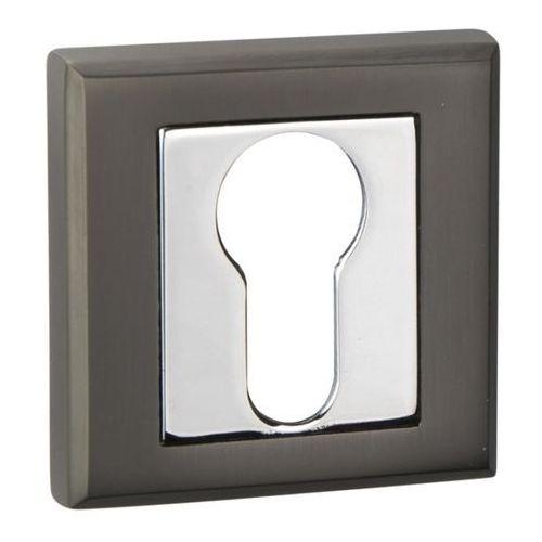 Szyld drzwiowy Schaffner Clara na wkładkę black-mat / chrom, SBLM/CRY