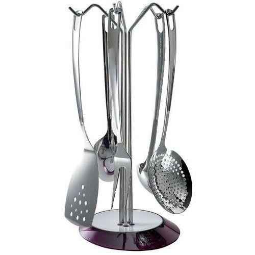 - glamour - zestaw 5 przyborów na stojaku fioletowym marki Casa bugatti