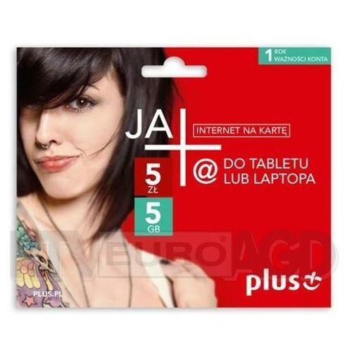 Plus JA+ 5zł / 5GB - internet na kartę - produkt w magazynie - szybka wysyłka! (5908310588223)