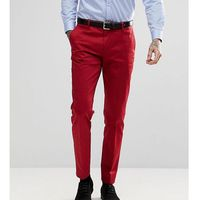 Heart & Dagger Skinny Suit Trousers In Cotton Sateen - Red