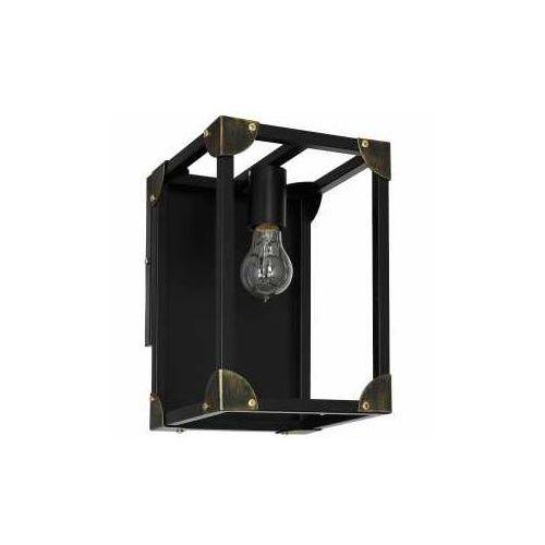 Luminex Kinkiet lampa ścienna trunk 1x60w e27 czarny 6986 (5907565969863)