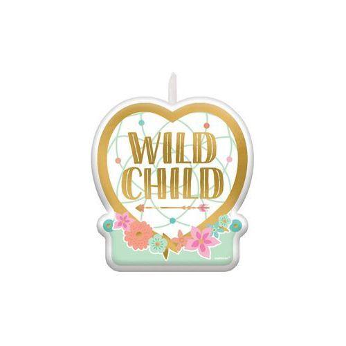 Świeczka urodzinowa Wild Child - 6 cm - 1 szt.