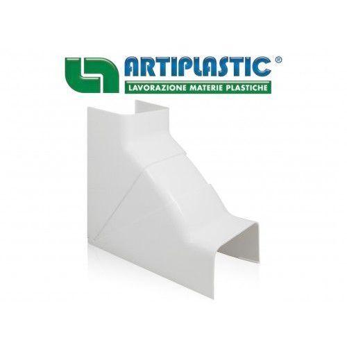 Artiplastic Kolano wewnętrzne regulowane 80°-105° do kanału montażowego 80x60mm (ipaic80)