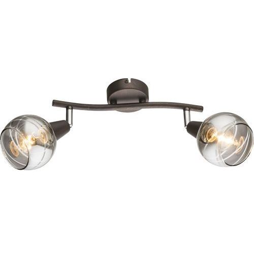 Plafon Globo Isla 54347-2 lampa sufitowa 2x4W E14 LED brąz (9007371342327)