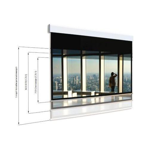 Ekran rozwijany elektrycznie multiformat 250x207cm/250x164cm, 4;3/16:9, visionwhitebe marki Adeo