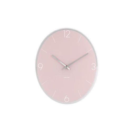 Zegar ścienny Elliptical soft pink by Karlsson, kolor różowy