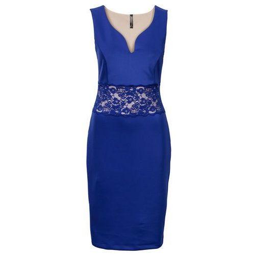 Sukienka z koronką niebieski marki Bonprix